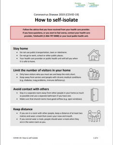 How to Self-Isolate Info