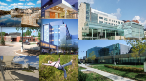 Collage of teaching sites