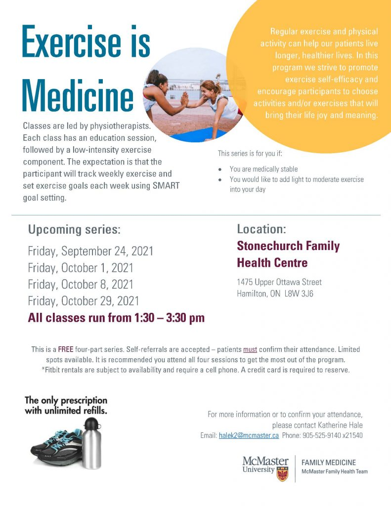 Exercise is Medicine Sept Dates