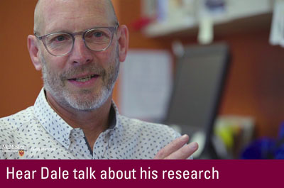 Click to hear Dale talk about his research