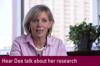 Click to hear Dee talk about her research
