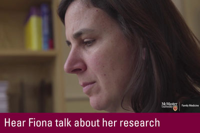 Click to hear Fiona talk about her research