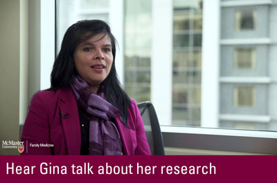 Click to hear Gina talk about her research