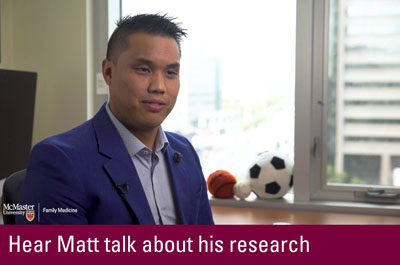 Click to hear Matt talk about his research