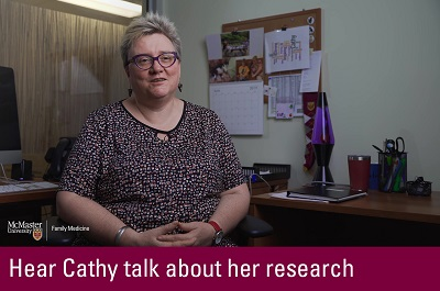 Click to hear Cathy talk about her research