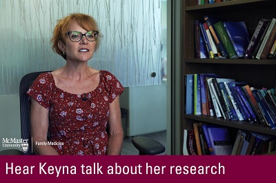 Click to hear Keyna talk about her research
