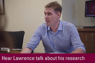 Click to hear Lawrence talk about his research