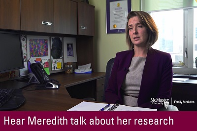 Click to hear Meredith talk about her research
