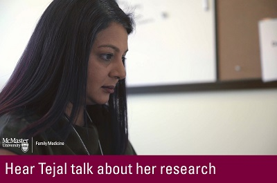 Click to hear Tejal talk about her research