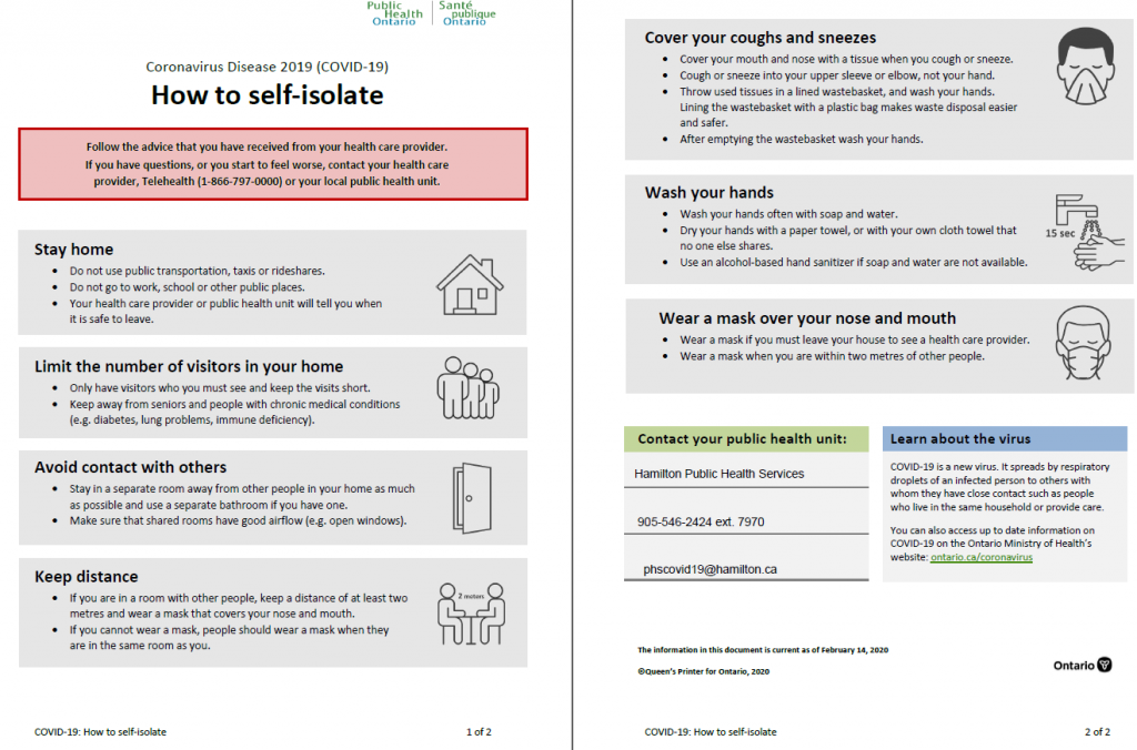 POSTER: how to self-isolate covid19