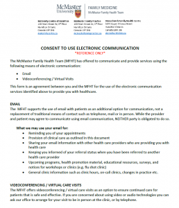 Consent for Electronic Communication