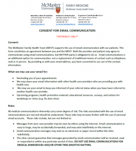 Consent for Email Communication