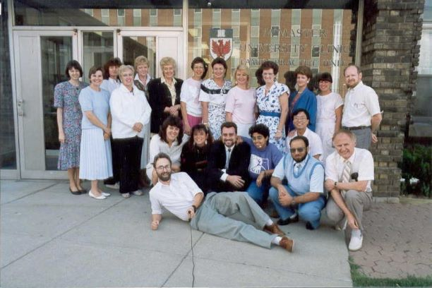 John Premi (far right, kneeling) and other Henderson Family Practice Unit members, 1989